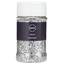 Buy John Lewis Create Glitter Sprinkle Tub, Silver Online at johnlewis.com