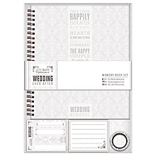 Buy Docrafts Wedding Memory Book, Dove Grey Online at johnlewis.com