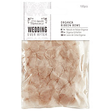 Buy Docrafts Wedding Ever After Organza Ribbon Bows, Nude, 100pcs Online at johnlewis.com
