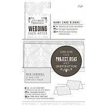 Buy Docrafts Wedding Name Card Blanks, Dove Grey, 25pcs Online at johnlewis.com