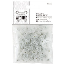 Buy Docrafts Wedding Ever After Organza Ribbon Roses, 100pcs Online at johnlewis.com