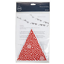 Buy John Lewis Christmas Bunting, Pack of 15, Red/White Online at johnlewis.com