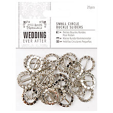 Buy Docrafts Wedding Ever After Small Circle Buckle Sliders, Silver, Pack of 25 Online at johnlewis.com