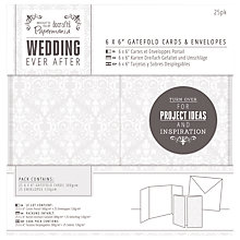"Buy Docrafts Wedding Gatefold Cards and Envelopes, Dove Grey, 6 x 6"", Pack of 25 Online at johnlewis.com"