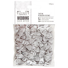 Buy Docrafts Wedding Ever After Satin Ribbon Bows, Silver, 100pcs Online at johnlewis.com