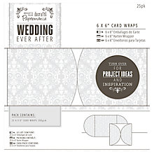 "Buy Docrafts Wedding Card Wraps, Dove Grey, 6 x 6"", Pack of 25 Online at johnlewis.com"