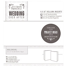 "Buy Docrafts Wedding Vellum Inserts, 6 x 6"", Pack of 25, White Online at johnlewis.com"