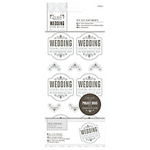 Buy Docrafts Wedding Die-Cut Sentiments, Pack of 102, Grey Online at johnlewis.com