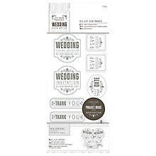 Buy Docrafts Wedding Die-Cut Sentiments, Pack of 27, Grey Online at johnlewis.com