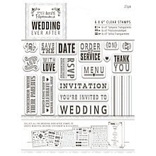 "Buy Docrafts Wedding Ever After Stamps, Clear, 6 x 6"", 23pcs Online at johnlewis.com"