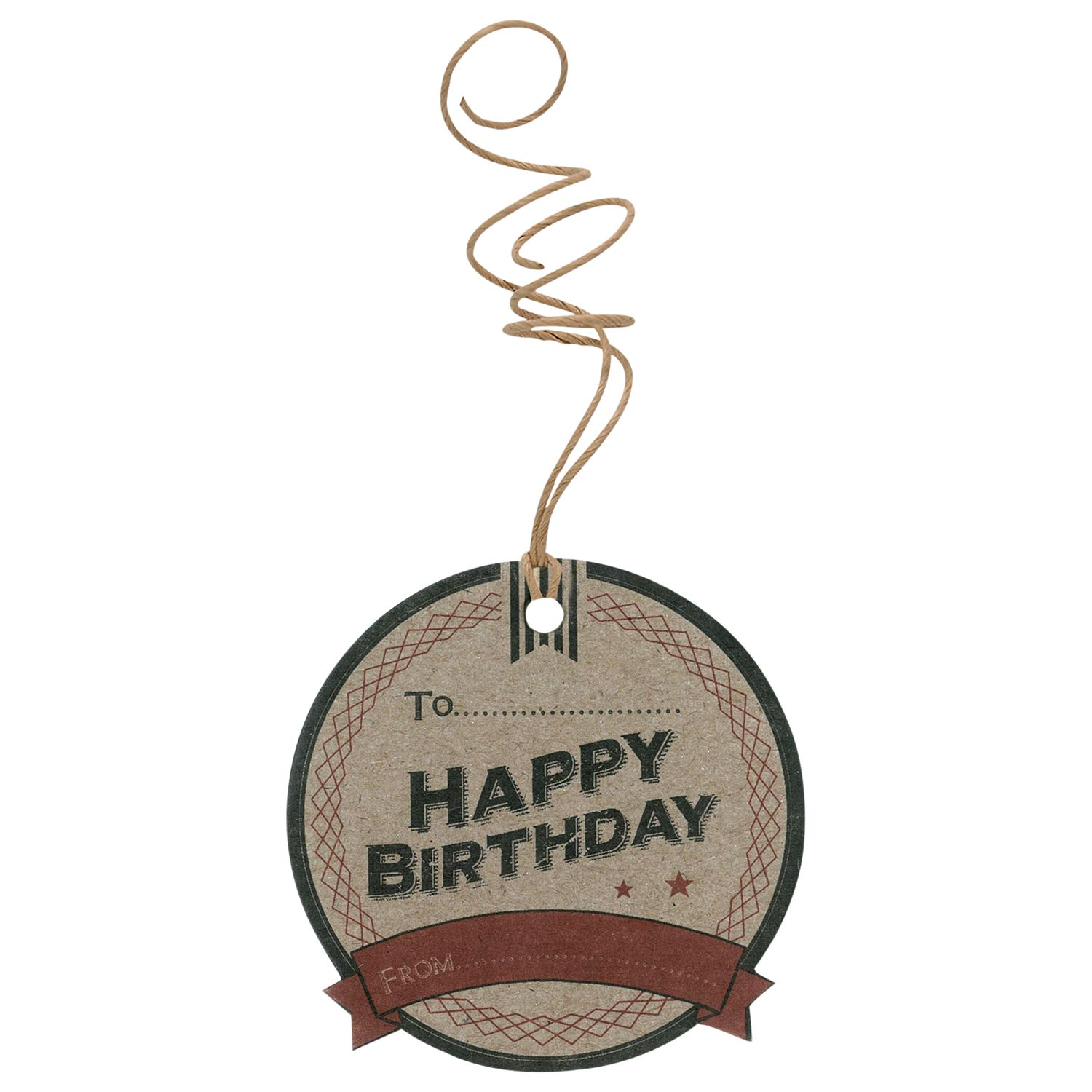 East of India East of India Happy Birthday Gift Tags, Pack of 6, Brown