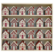 Buy East of India Advent Village, Cream/Red Online at johnlewis.com