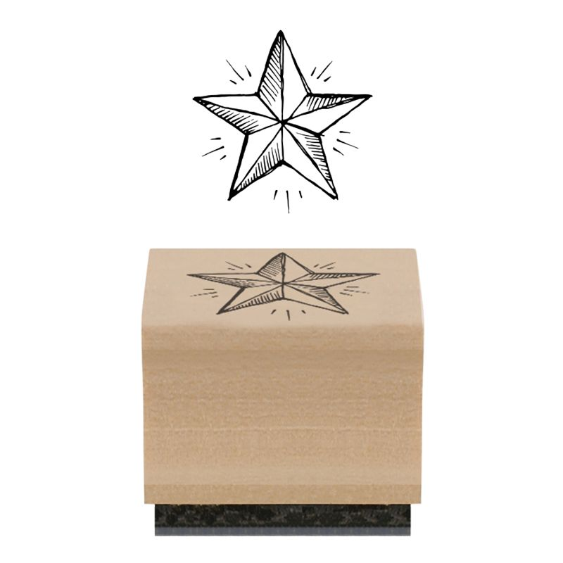 East of India East of India Star Rubber Stamp