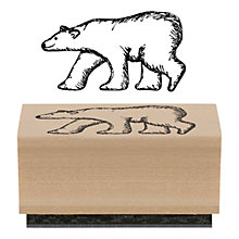 Buy East of India Polar Bear Rubber Stamp Online at johnlewis.com