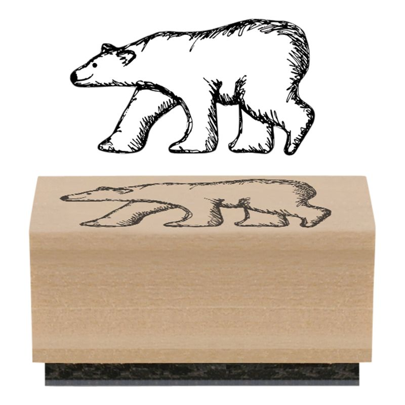 East of India East of India Polar Bear Rubber Stamp