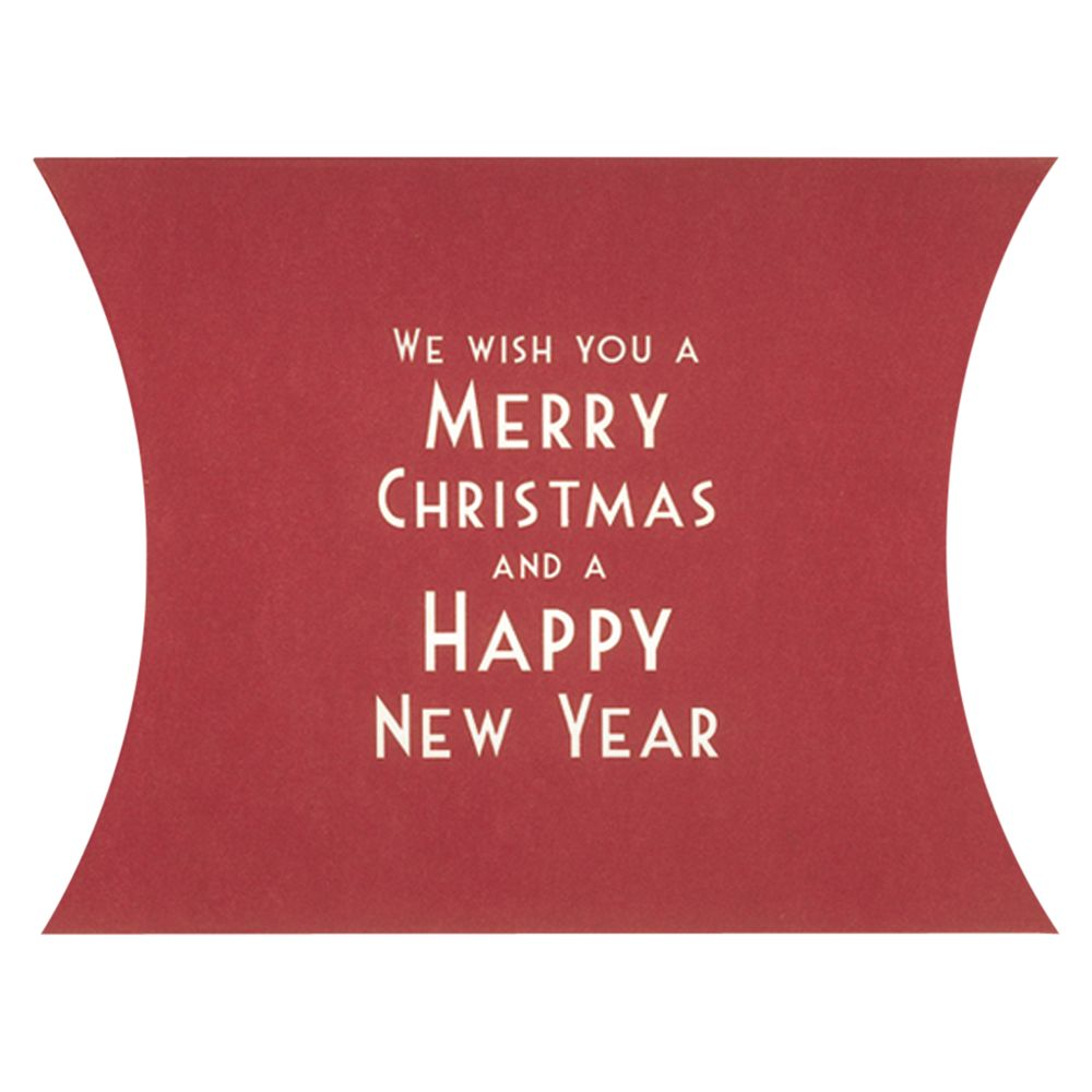 East of India East of India We Wish You A Merry Christmas Pillow Pack, Red
