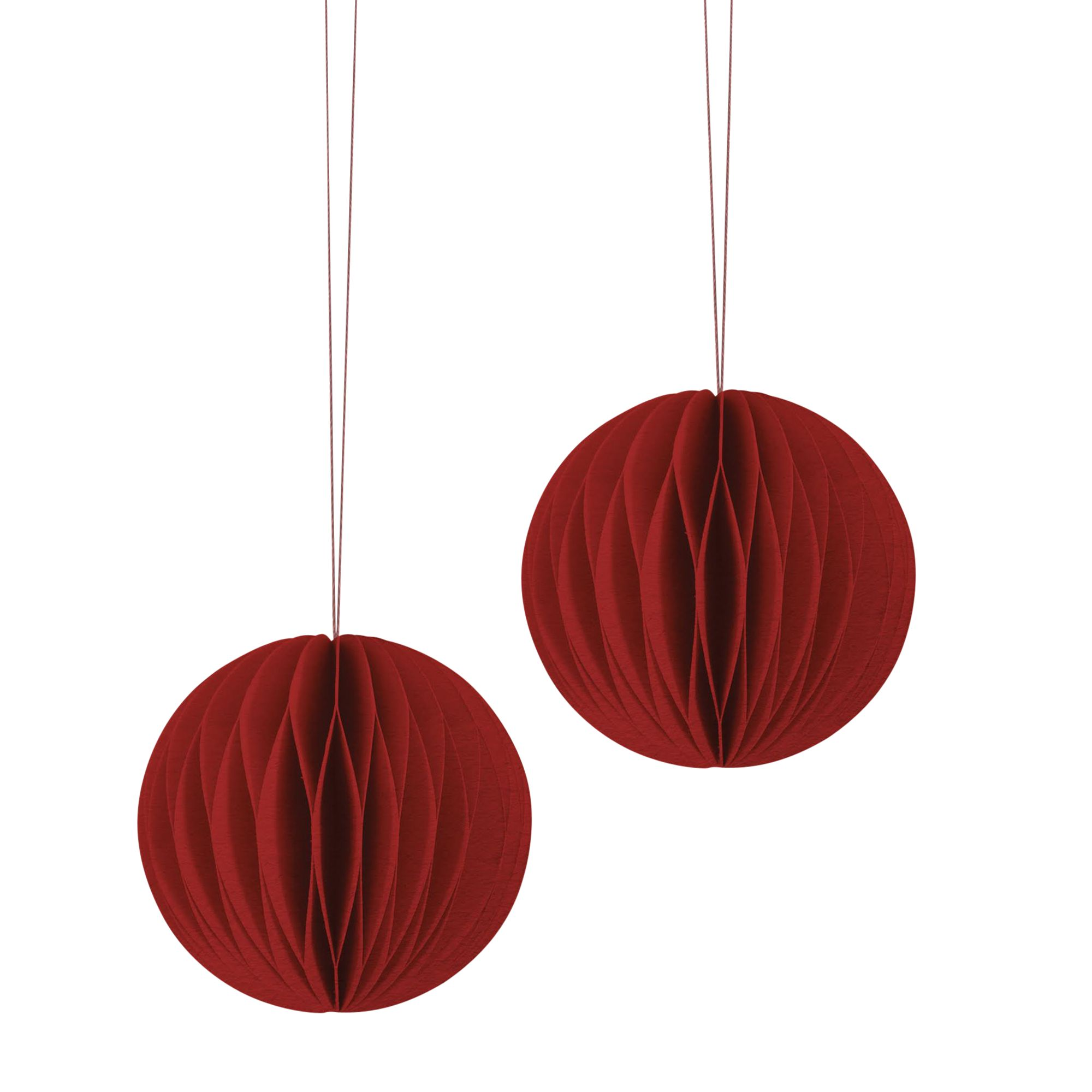 East of India East of India Paper Baubles, Pack of 2, Red
