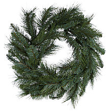 Buy John Lewis Mixed Pine Christmas Wreath Online at johnlewis.com
