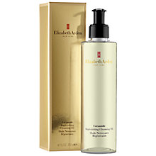 Buy Elizabeth Arden Ceramide Replenishing Cleansing Oil, 200ml Online at johnlewis.com