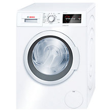 Buy Bosch WAT28370GB Freestanding Washing Machine, 9kg Load, A+++ 30% Energy Rating, 1400rpm Spin, White Online at johnlewis.com