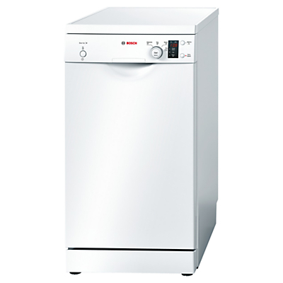 Image of Bosch SPS40E12GB Freestanding Slimline Dishwasher, White