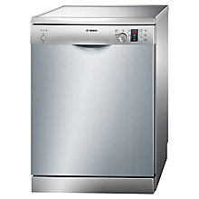 Buy Bosch SMS50C18UK Freestanding Dishwasher, Silver Inox Online at johnlewis.com