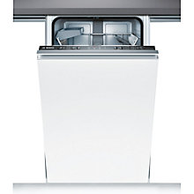 Buy Bosch SPV40C10GB Fully Integrated Slimline Dishwasher Online at johnlewis.com