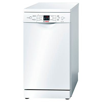 Bosch SPS53M02GB Freestanding Slimline Dishwasher White
