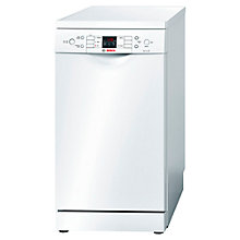 Buy Bosch SPS53M02GB Freestanding Slimline Dishwasher, White Online at johnlewis.com
