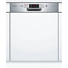Buy Bosch SMI65P15GB Integrated Dishwasher, Brushed Steel Online at johnlewis.com