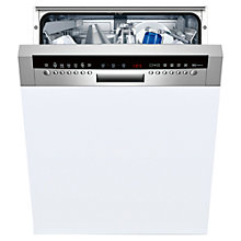 Buy Neff S42M69N0GB Semi-Integrated Dishwasher, White Online at johnlewis.com
