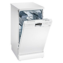 Buy Siemens SR26M231GB Freestanding Slimline Dishwasher, White Online at johnlewis.com