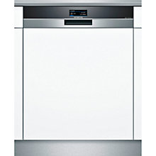 Buy Siemens SN578S00TG Semi-Integrated Dishwasher, Stainless Steel Online at johnlewis.com