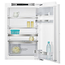Buy Siemens KI21RAF30G Integrated Undercounter Larder Fridge, A++ Energy Rating, 56cm Wide Online at johnlewis.com