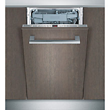 Buy Siemens SR66T090GB Fully Integrated Slimline Dishwasher, Stainless Steel Online at johnlewis.com