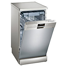 Buy Siemens SR26T891GB Freestanding Slimline Dishwasher, Stainless Steel Online at johnlewis.com
