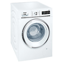 Buy Siemens WM14W590GB Freestanding Washing Machine, 8kg Load, A+++ Energy Rating, 1400rpm Spin, White Online at johnlewis.com