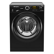 Buy Hotpoint RPD10457JKK Ultima S-Line Freestanding Washing Machine, 10kg Load, A+++ Energy Rating, 1400rpm Spin, Black Online at johnlewis.com