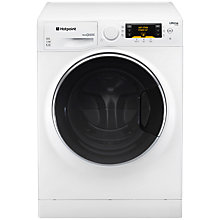 Buy Hotpoint RPD10667DD Ultima S-Line Freestanding Washing Machine, 10kg Load, A+++ Energy Rating, 1600rpm Spin, White / Black Online at johnlewis.com