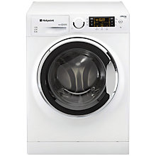 Buy Hotpoint RPD10657JX Ultima S-Line Freestanding Washing Machine, 10kg Load, A+++ Energy Rating, 1600rpm Spin, White / Stainless Steel Online at johnlewis.com