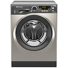 Buy Hotpoint RPD9467JGG Ultima S-Line Freestanding Washing Machine, 9kg Load, A+++ Energy Rating, 1400rpm Spin, Graphite Online at johnlewis.com