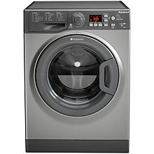 Buy Hotpoint Aquarius WMAQG641G Ultima S-Line Freestanding Washing Machine, 6kg Load, A+ Energy Rating, 1400rpm Spin, Graphite Online at johnlewis.com