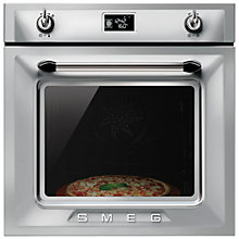 Buy Smeg SF6922XPZ Victoria Built In Multifunction Oven with Vapourclean, Stainless Steel Online at johnlewis.com