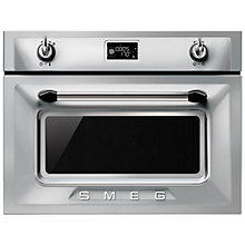 Buy Smeg SF4920VCX Victoria Combination Steam Oven, Stainless Steel Online at johnlewis.com