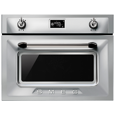 Smeg SF4920MCX Victoria Integrated Compact Combi Microwave Oven Stainless Steel