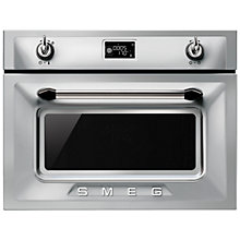 Buy Smeg SF4920MCX Victoria Integrated Compact Combi Microwave Oven, Stainless Steel Online at johnlewis.com