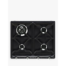 Buy Smeg SR964NGH Victoria Gas Hob, Black Online at johnlewis.com