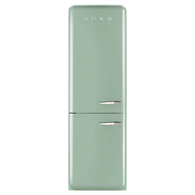 Image of Smeg FAB32LNG Freestanding Fridge Freezer, A++ Energy Rating, Left-Hand Hinge, 60cm Wide, Pastel Green