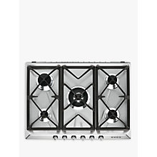 Buy Smeg SR975XGH Victoria Integrated Gas Hob, Stainless Steel Online at johnlewis.com