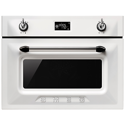 Smeg SF4920MCB Victoria Integrated Compact Combi Microwave Oven White
